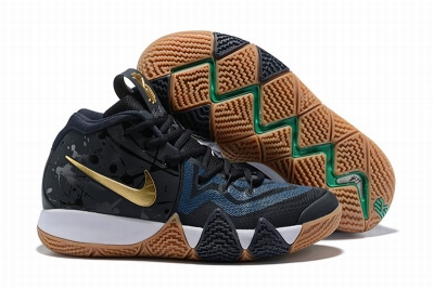 New Nike Kyire 4 Black Blue Gold-logo