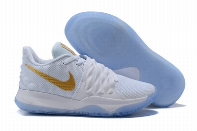 New Nike Kyire 4 White Gold-logo