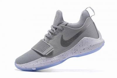 Nike Paul George Shoes PG 1 PE Gray White