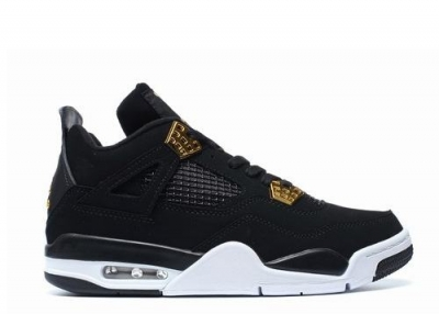 Air Jordan 4 Royalty Black White Gold