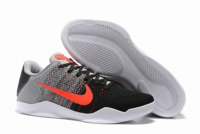 Kobe 11 Shoes Black Grey Red