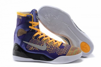 Kobe 9 Shoes Elite Purple Yellow