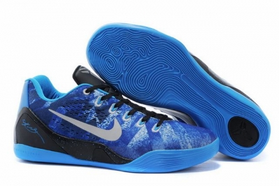 Kobe 9 Shoes Low Blue Black
