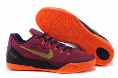 Kobe 9 Shoes Low Garnet Red