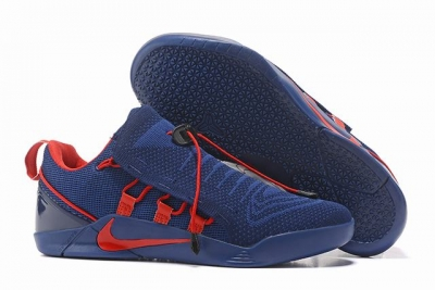 Nike Kobe AD 12 Shoes Woven Surface Dark Blue Red