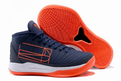 Nike Kobe AD EP Shoes Mid Dark Blue Orange