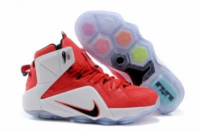 Nike Lebron James 12 Shoes Leone Heart Red White
