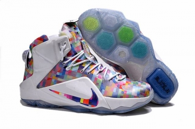 Nike Lebron James 12 Shoes Rainbow